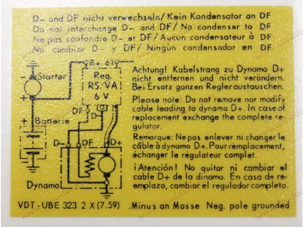medium resolution of voltage regulator decal 356 replaces 64470100701