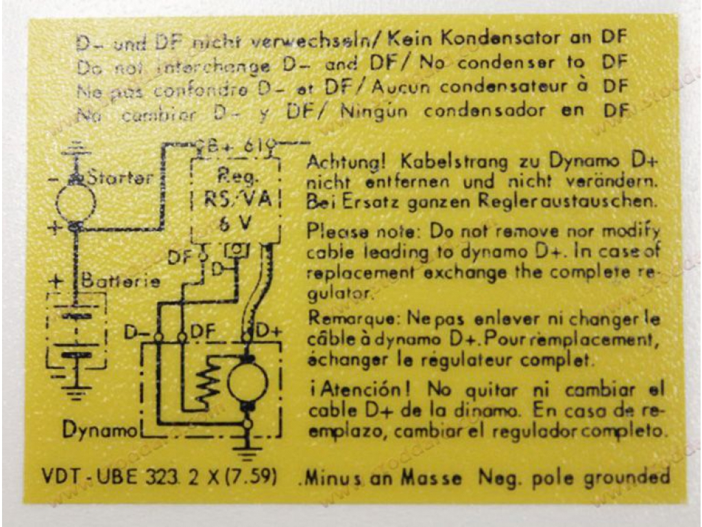 hight resolution of voltage regulator decal 356 replaces 64470100701