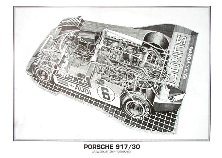 Porsche Engine Cutaway Drawings, Porsche, Free Engine