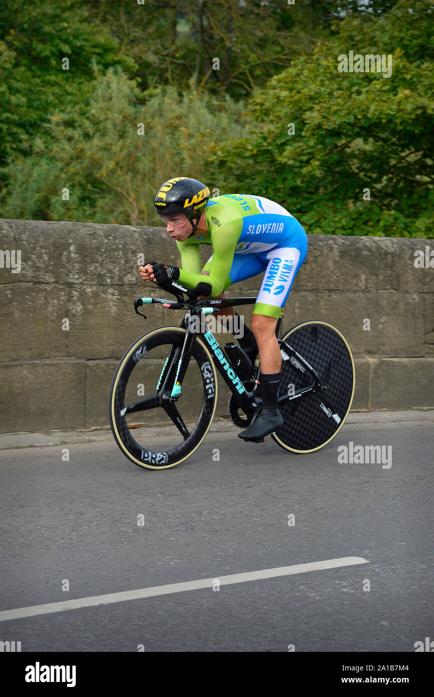 https www alamy com uci cycling world road championships mens elite individual time trial yorkshire great britain primoz roglic image327859172 html