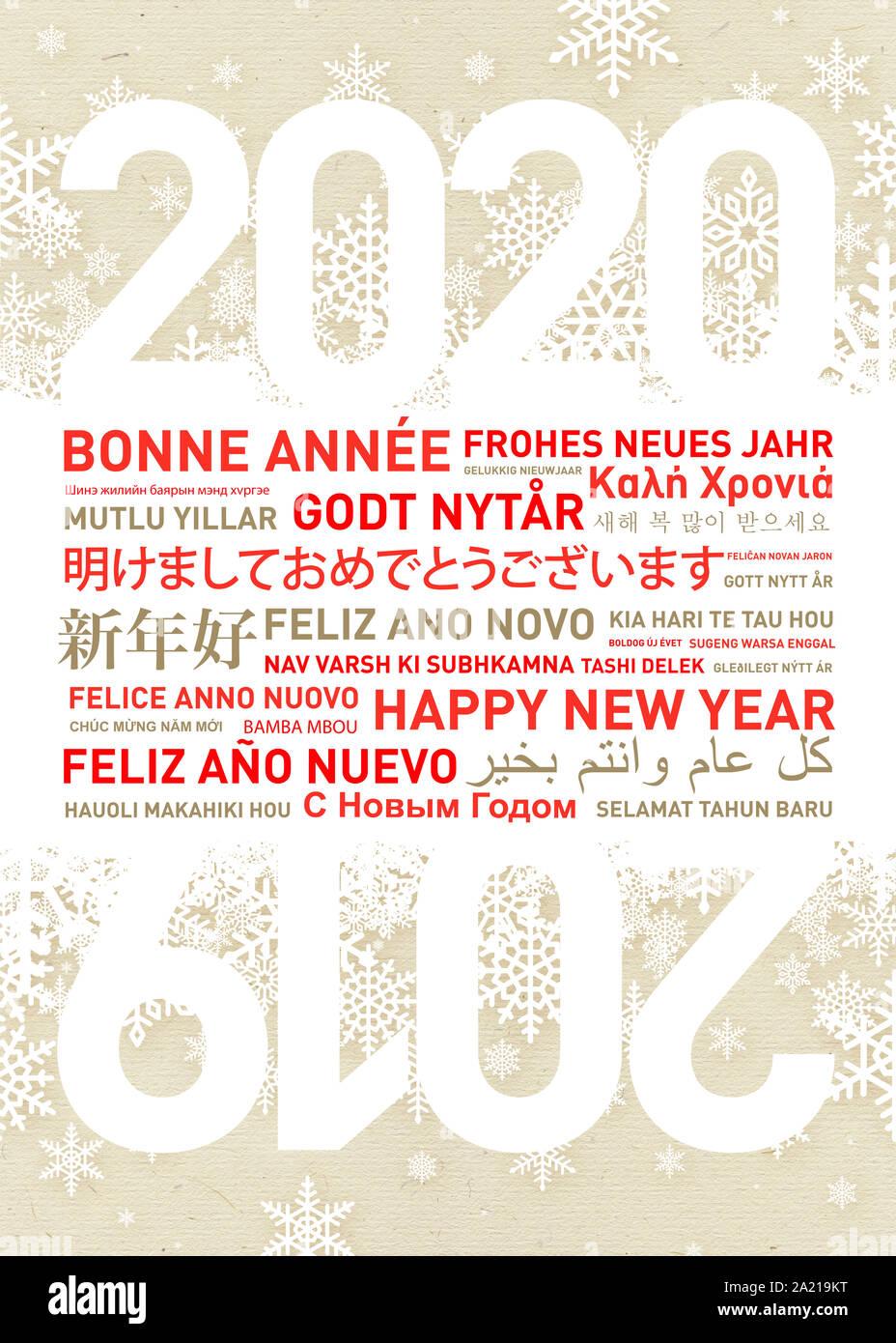 Background Tahun Baru 2020 : background, tahun, Happy, Languages, Resolution, Stock, Photography, Images, Alamy