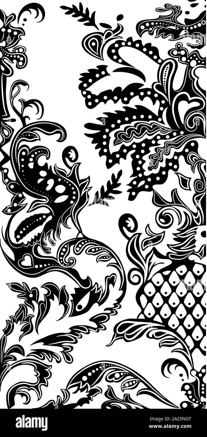 White Batik Background : white, batik, background, Black, White, Paisley, Pattern., Vintage, Background, Batik, Style., Beautiful, Floral, Business, Stock, Photo, Alamy