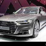 Frankfurt Germany Sep 13 2017 Audi A8 L 55 Tfsi Quattro Car Showcased At The Frankfurt Iaa Motor Show Stock Photo Alamy