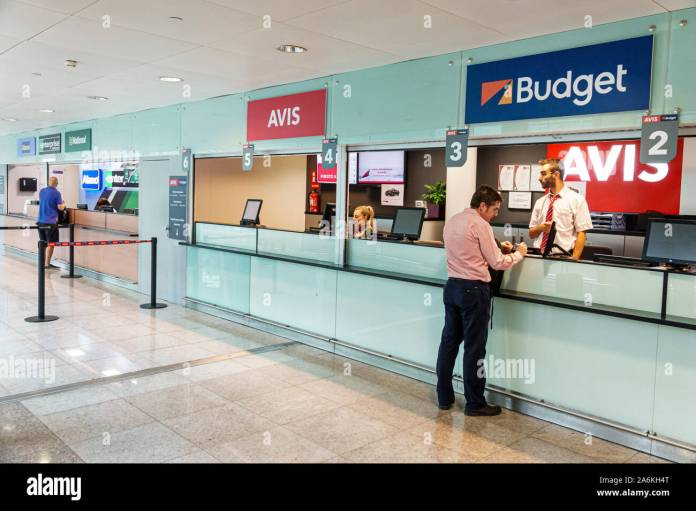 Car Rental Counter High Resolution Stock Photography And Images Alamy