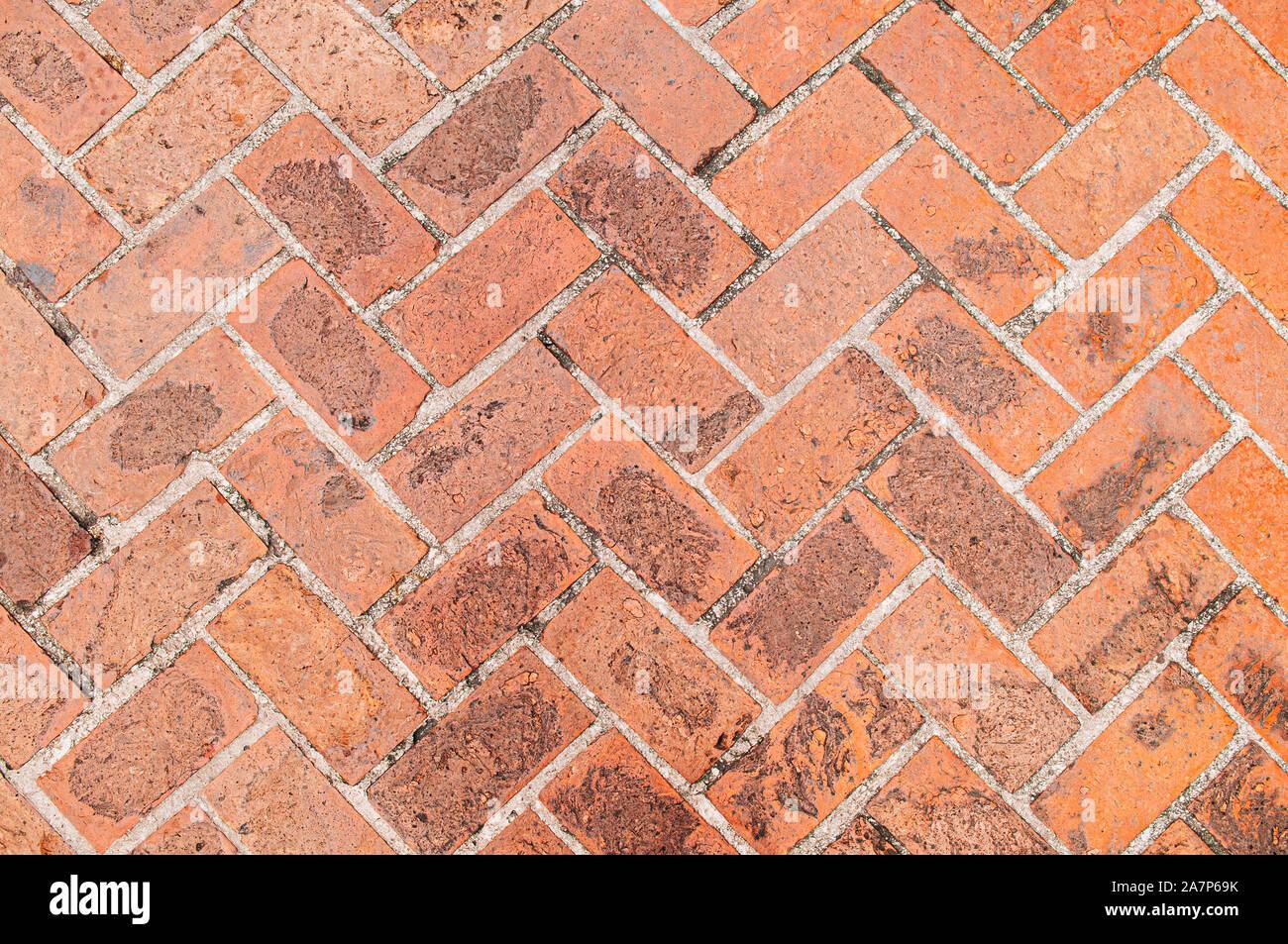 https www alamy com old red brick texture background diagonal herringbone brick pattern retro grungy wallpaper image331787503 html