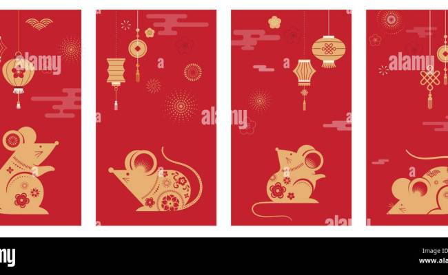 Happy Chinese New Year Design 2020 Rat Zodiac Cute Mouse