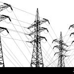 Electricity Transmission Lines With Wires And Towers Black And White Line Art Drawing Illustration Concept Of Electric Power Supply Alternative Ene Stock Photo Alamy
