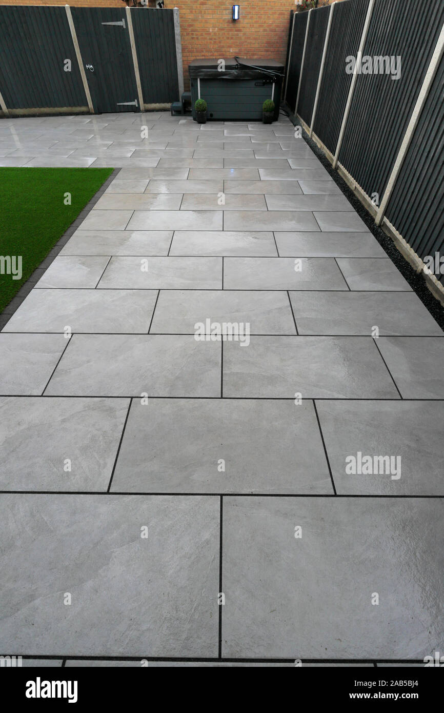 https www alamy com patio paving slabs in a residential garden environment image333877100 html