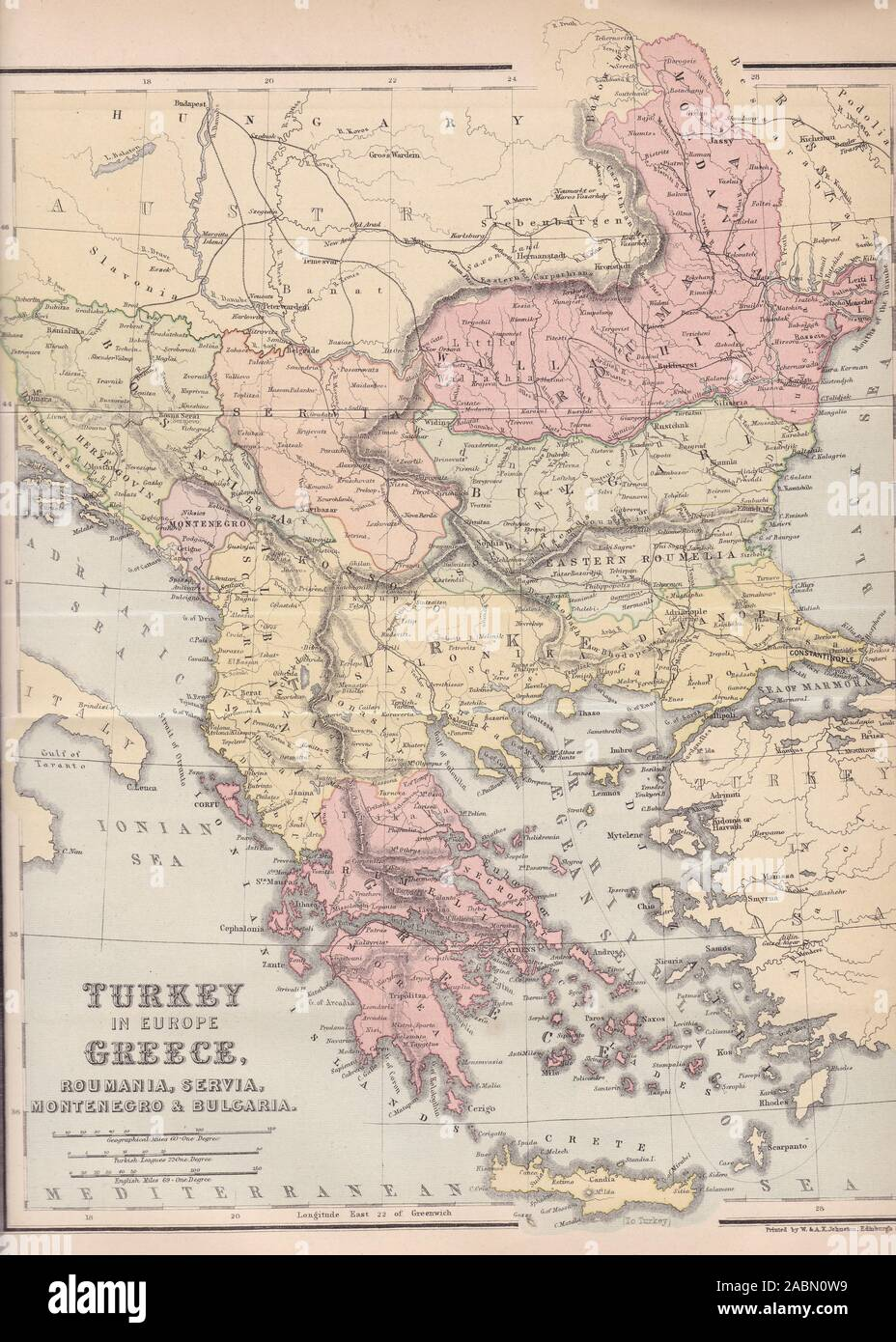 Map Of Turkey And Greece : turkey, greece, Turkey, Greece, Bulgaria, Resolution, Stock, Photography, Images, Alamy