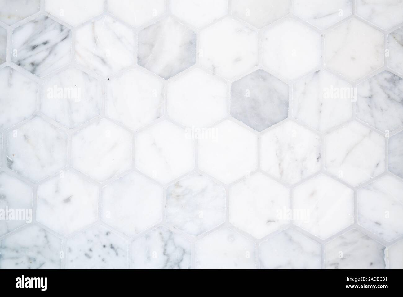 https www alamy com marble hexagon tile floor background pattern with gray grout image335238709 html