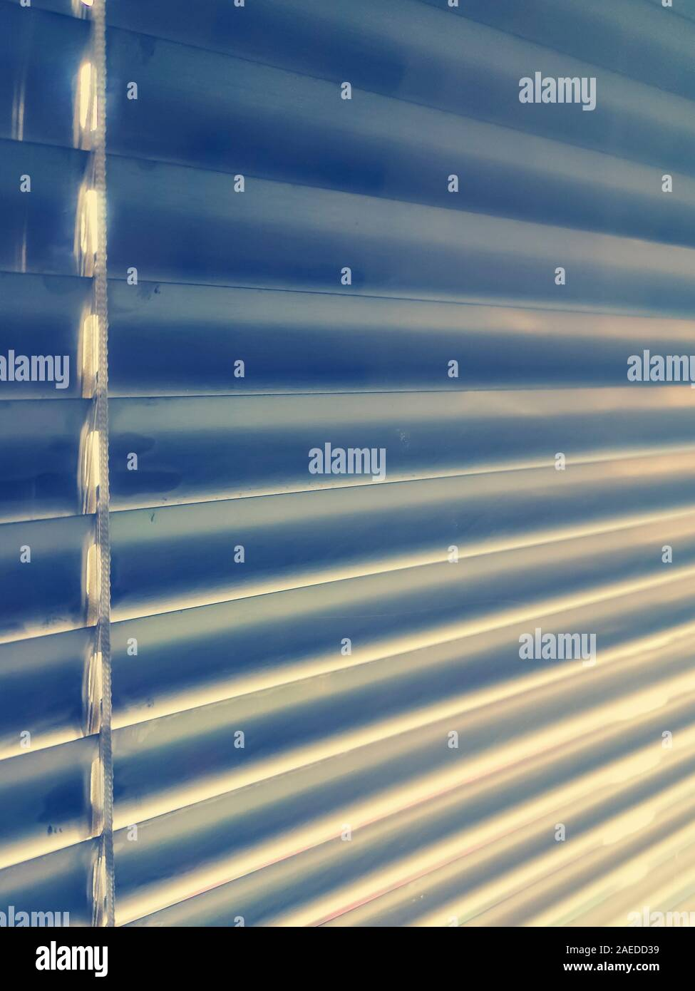 Sunblinds Silver Aluminum Louver On Window Horizontal