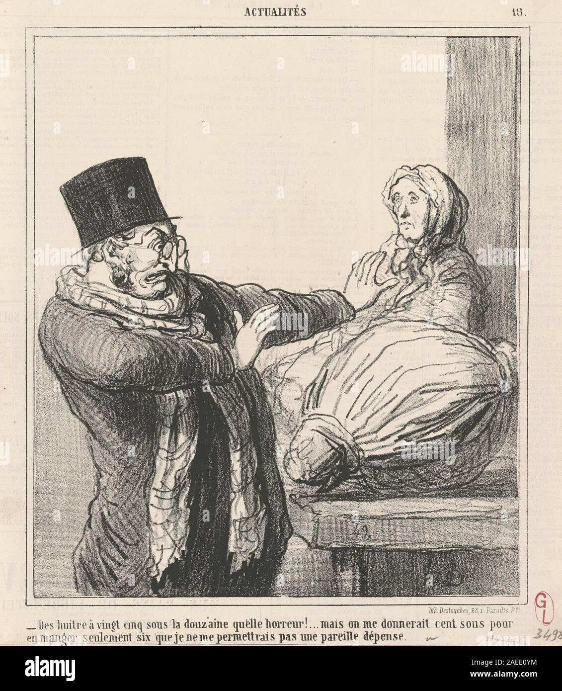 Je Ne Me Permettrai Pas : permettrai, Honoré, Daumier,, Huitres, Vingt-cinq, Douzaine, Century, Stock, Photo, Alamy