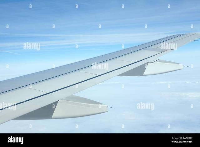airplane wing during the flight Stock Photo: 336893507 - Alamy