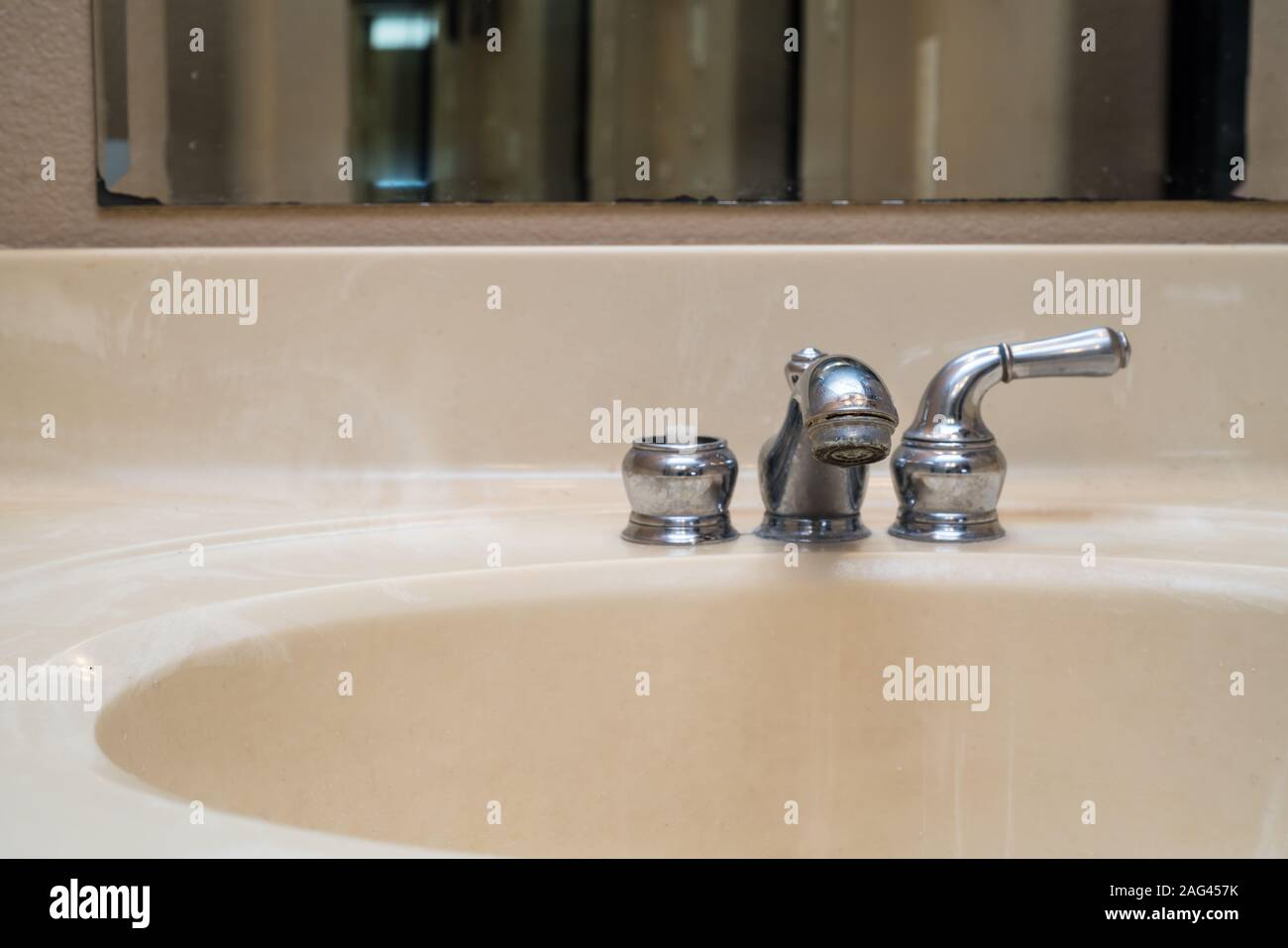 https www alamy com a photo of a broken faucet great for a plumbing ad image336923431 html