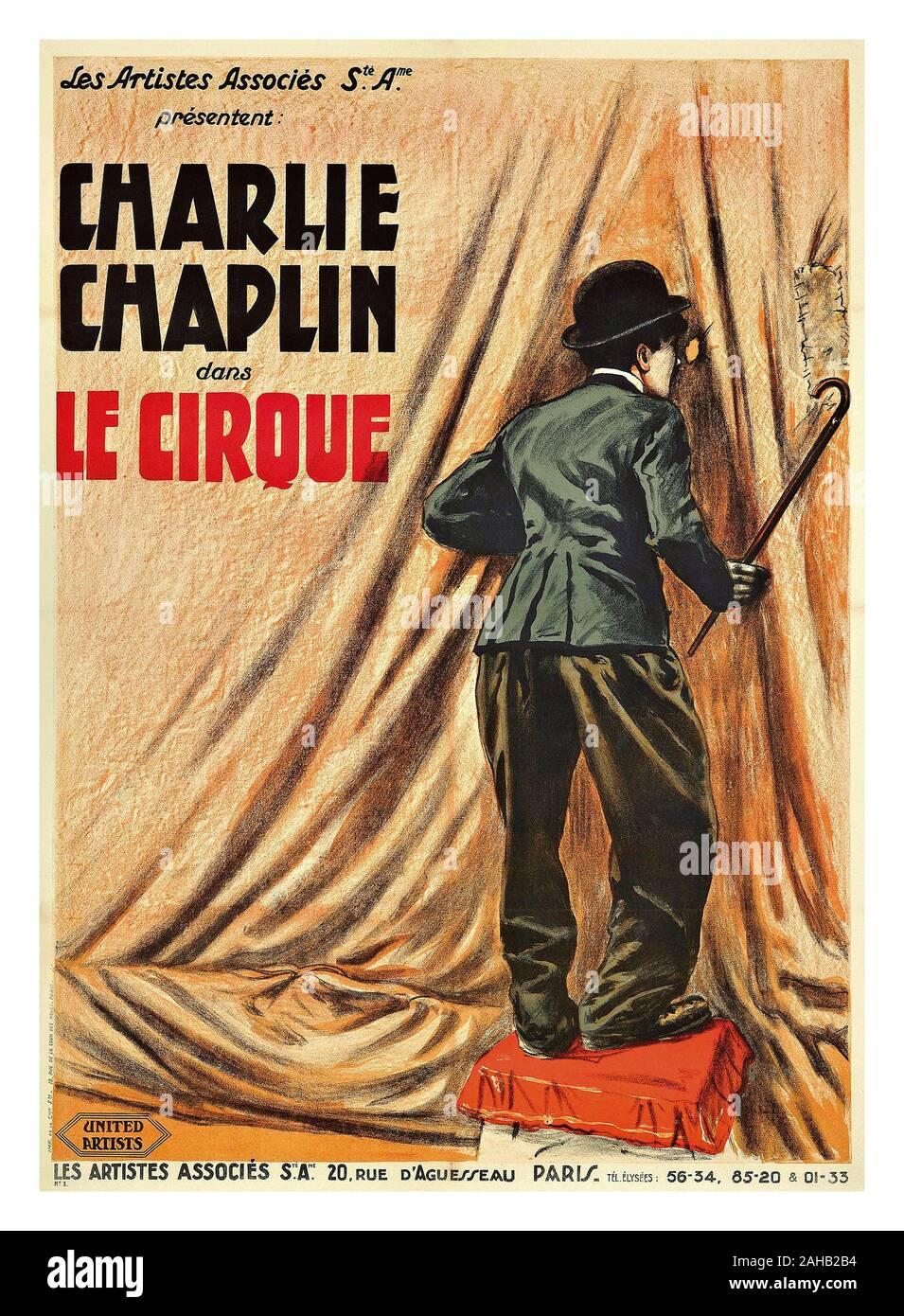 Le Cirque (film) : cirque, (film), Vintage, 1920's, Movie, Poster, Charlie, Chaplin, Cirque', CIRCUS, Tramp, French, Muet,, Drame,, Romance