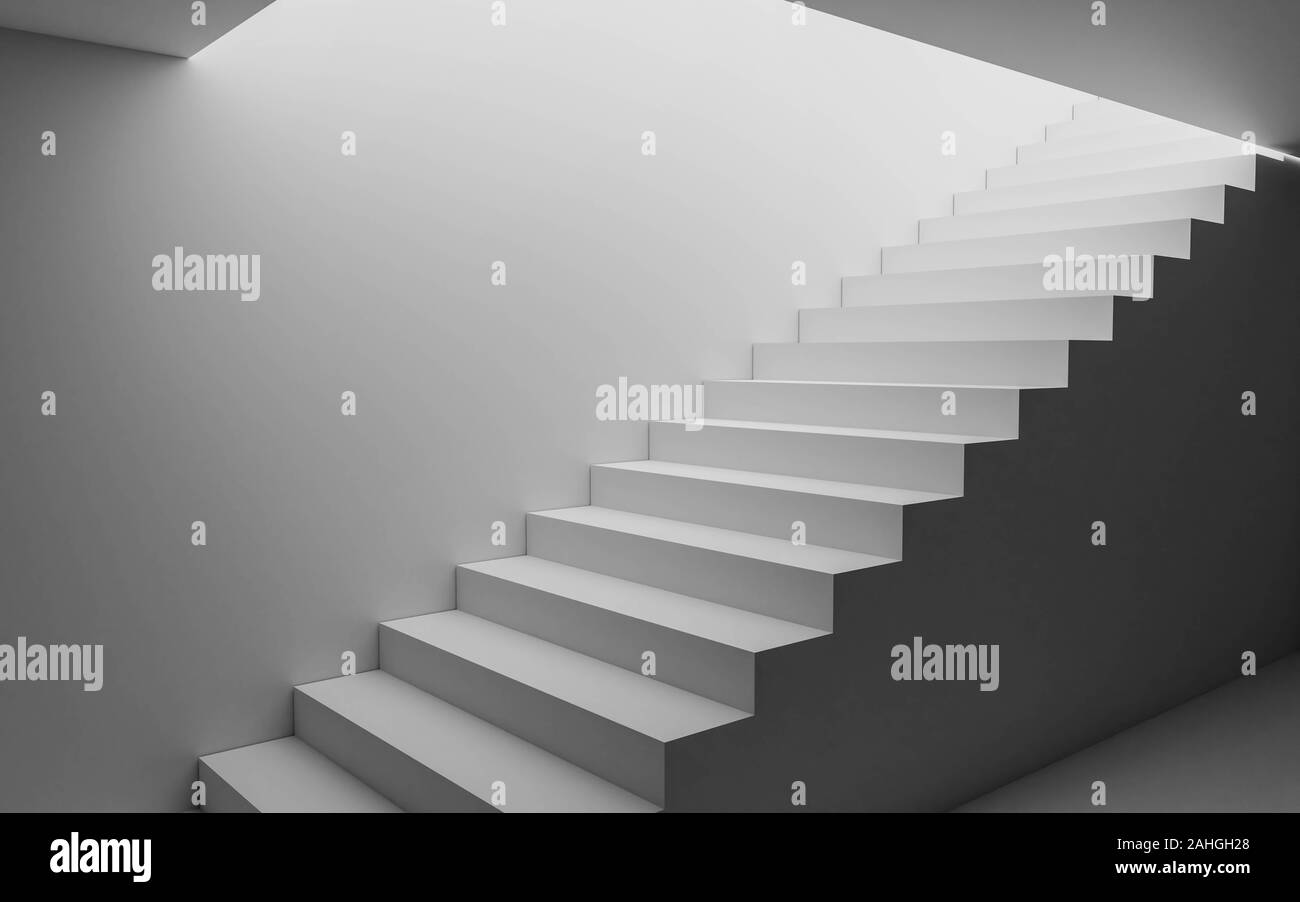 https www alamy com abstract white basement stairway to the day light 3d render illustration image337810768 html
