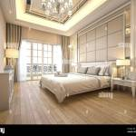 3d Rendering Modern Luxury Classic Bedroom With Marble Decor Stock Photo Alamy