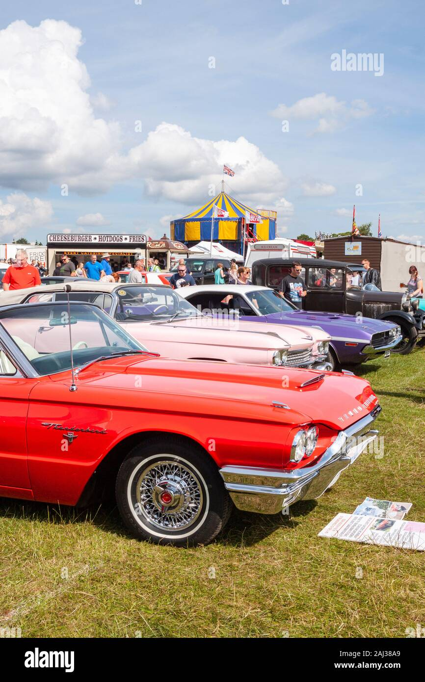 1960s Thunderbird : 1960s, thunderbird, Classic, Vintage, Thunderbird, Convertible, Stars, Stripes, Tatton, Stock, Photo, Alamy