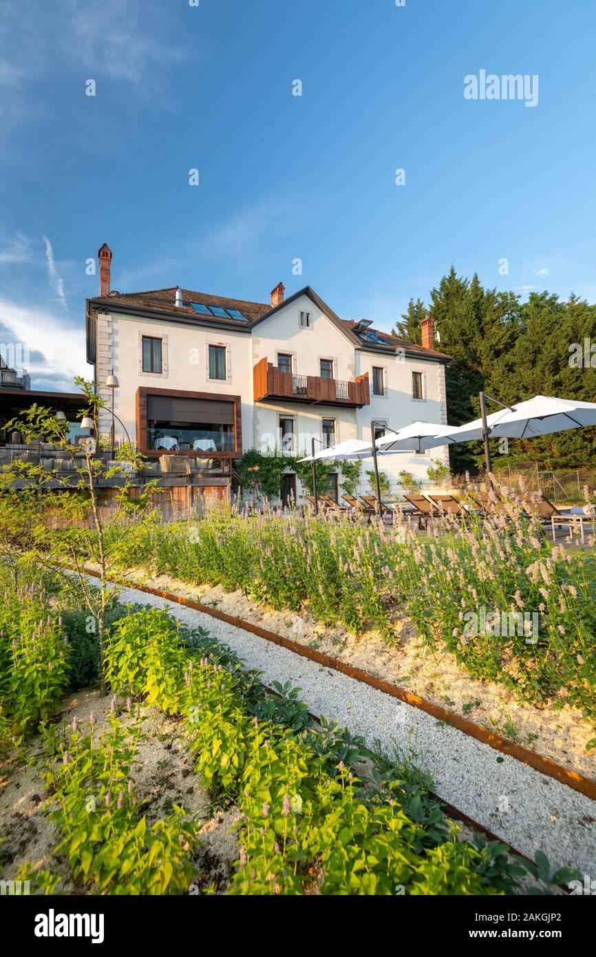 Le Clos Des Sens Annecy : annecy, France,, Haute-Savoie,, Annecy,, Restaurant, Three-star, Laurent, Petit, Stock, Photo, Alamy