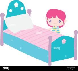 Cute Clip Art Bed Cartoon