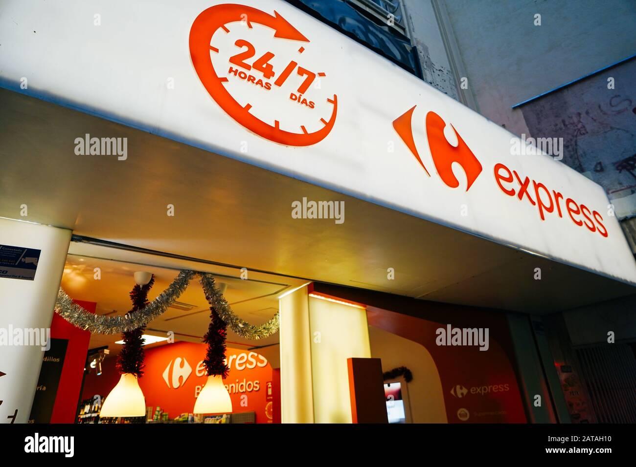 https www alamy com madrid spain december 26th 2019 carrefour express supermarket image341981612 html