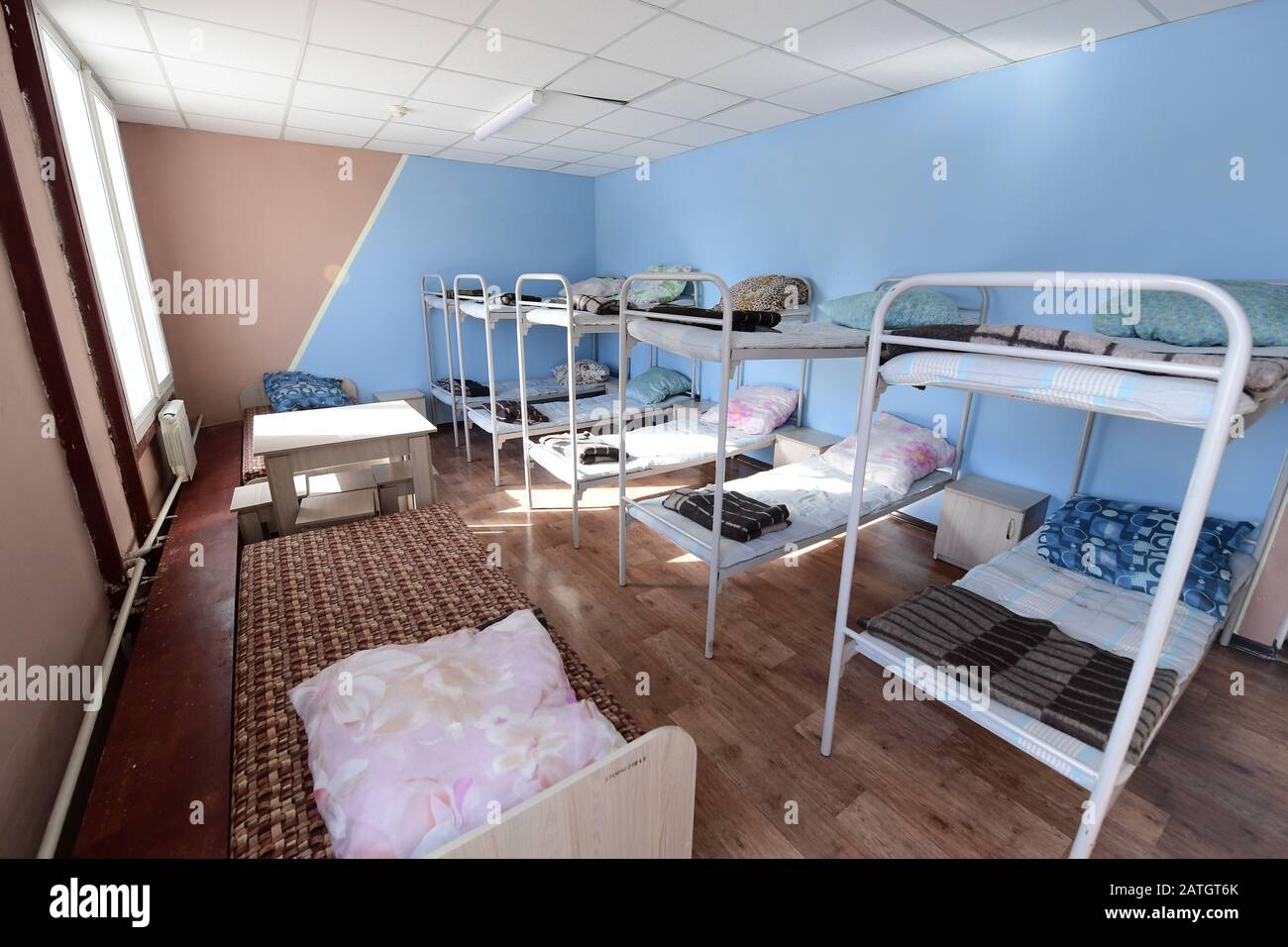 Primorye Territory Russia February 3 2020 Bunk Beds In A Bedroom In A Quarantine Facility For
