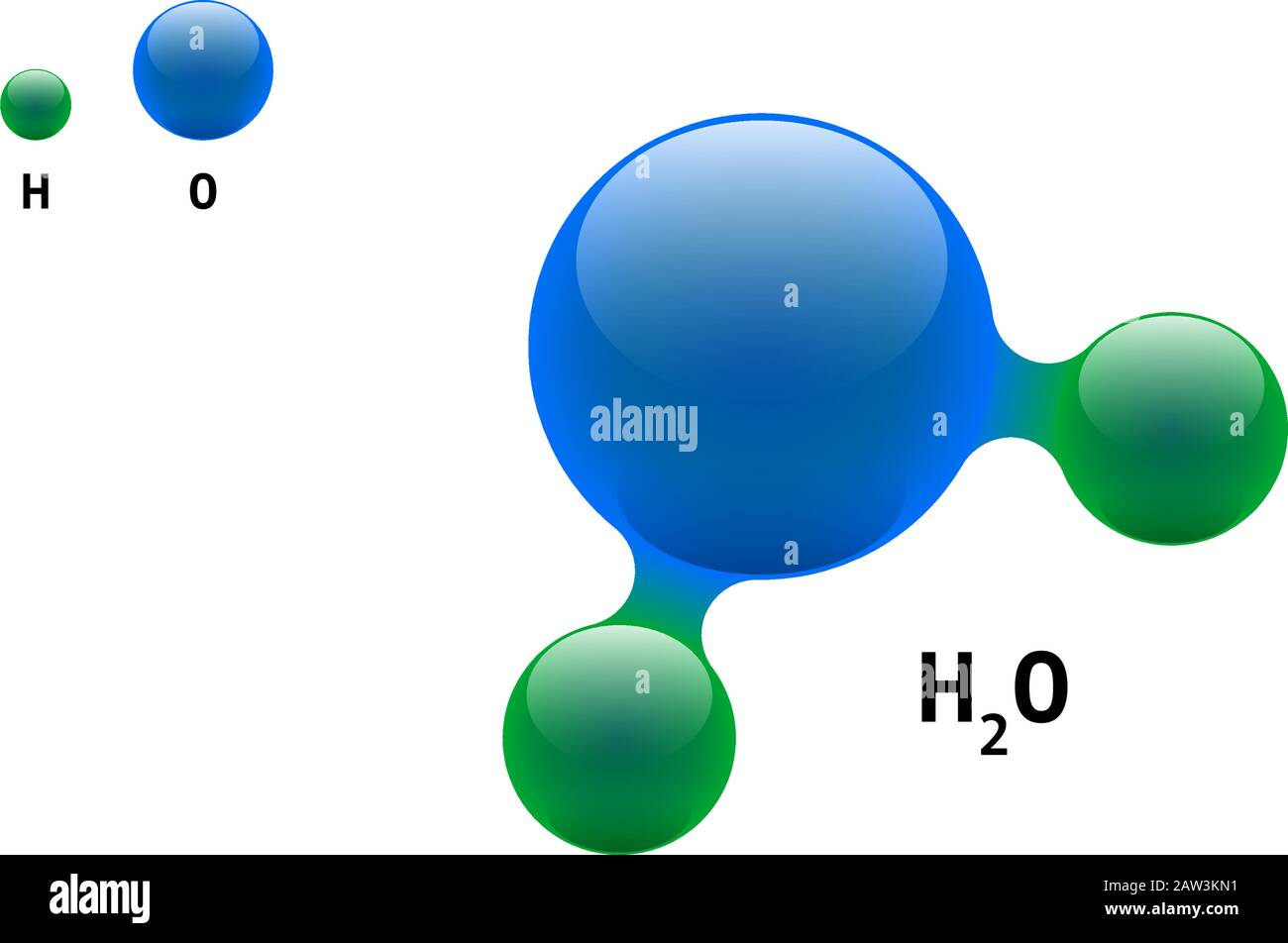 Chemistry Model Molecule Water H2o Scientific Element