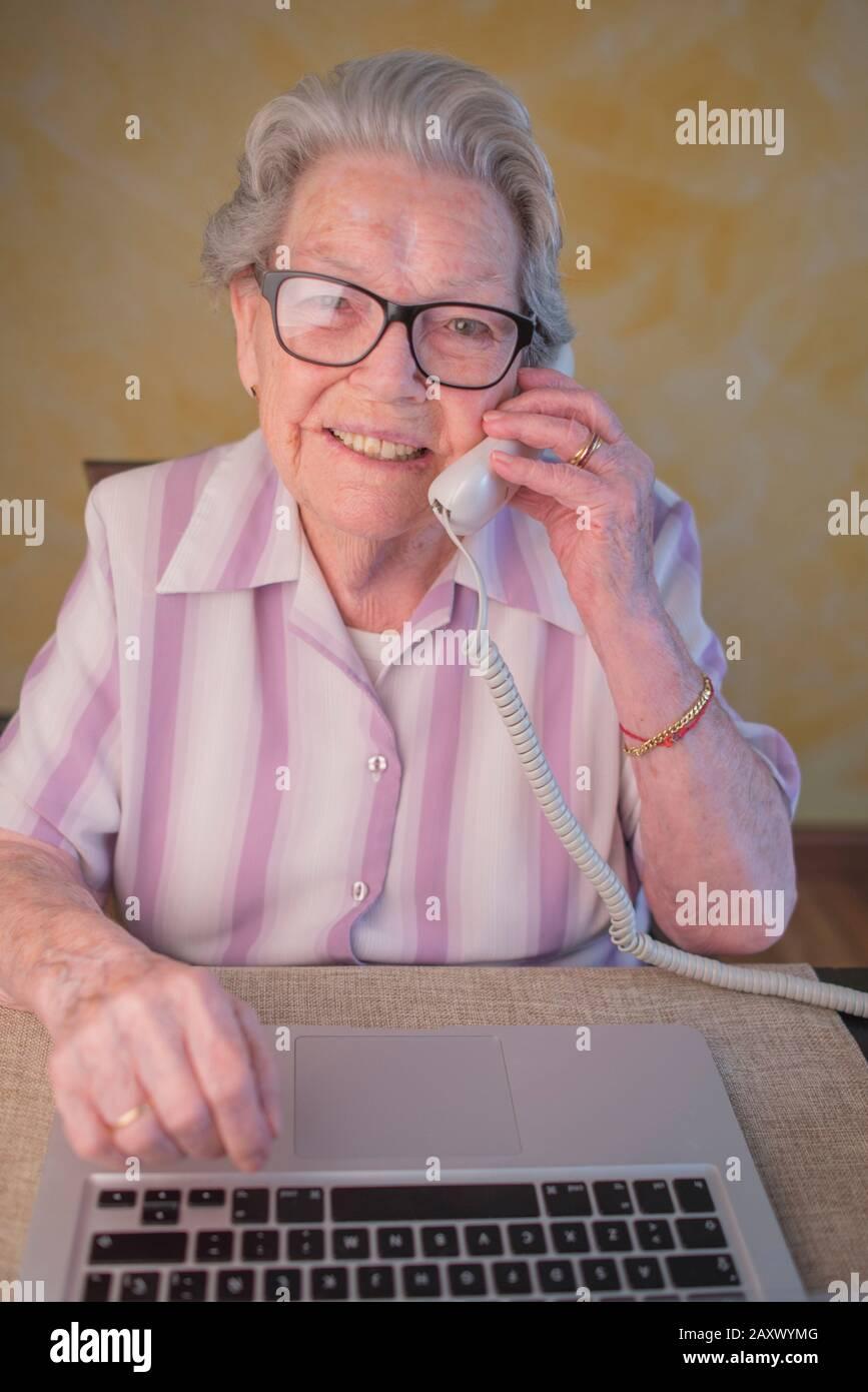 Grandma Stock Image : grandma, stock, image, Active, Grandma, Stock, Photo, Alamy