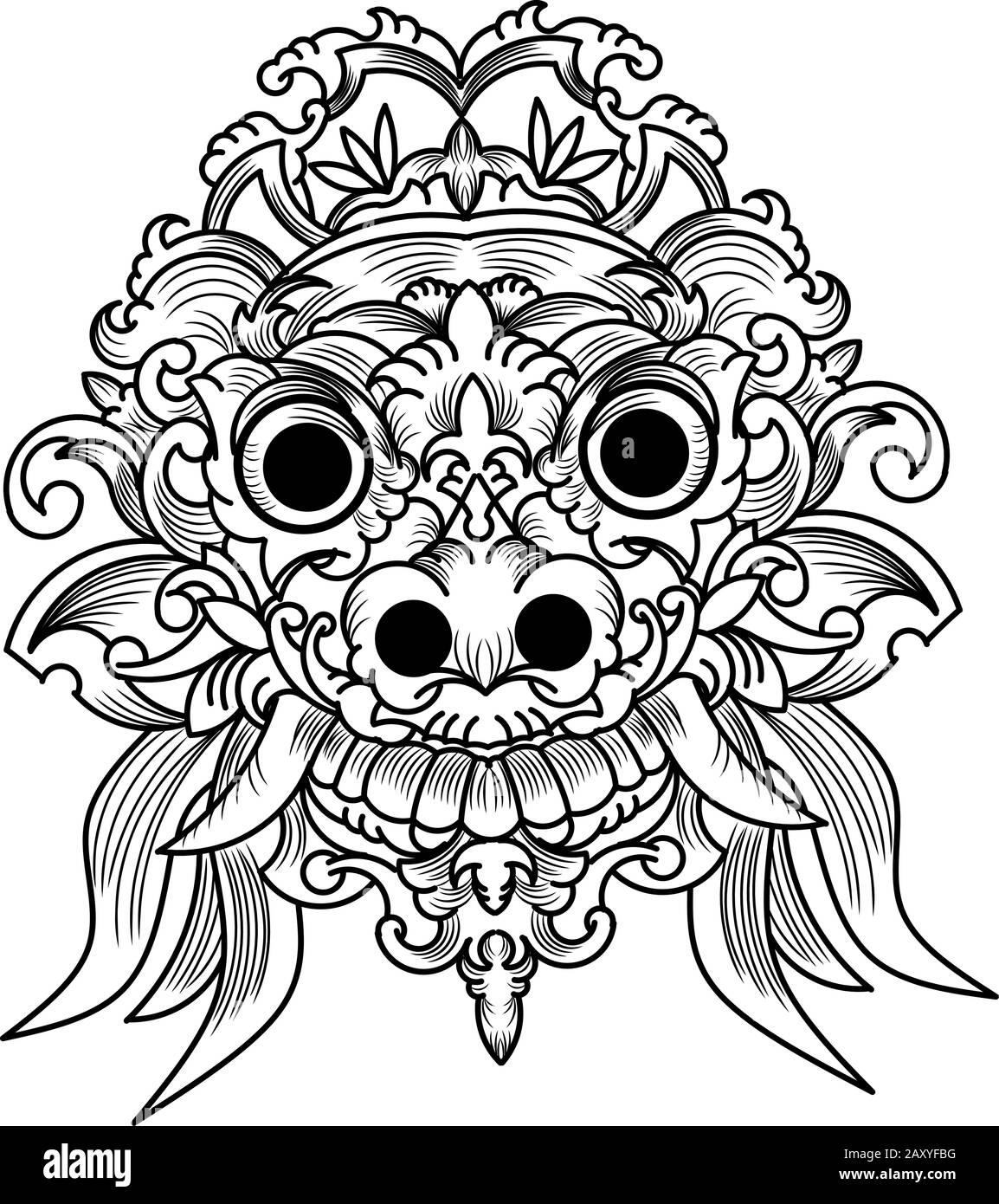 Batik Sunda Vector : batik, sunda, vector, Batik, Black, White, Stock, Photos, Images, Alamy