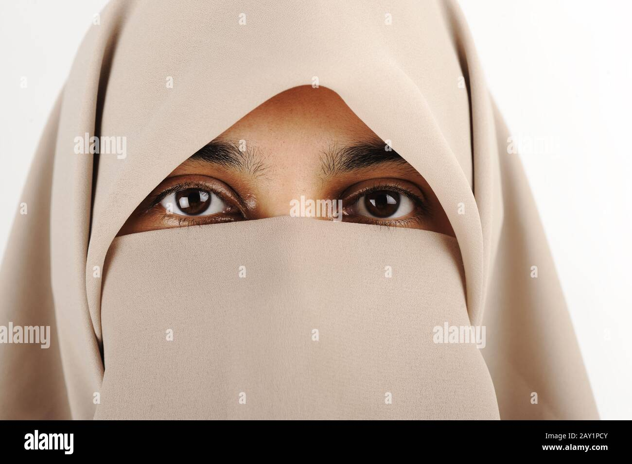 When women began to wear hijab in increasing numbers, demonstrating a common reaction to hold onto religious and cultural identifiers in response to persecution, hijab was thrown into new focus as. Niqab Muslim Woman Veil Scarf Stock Photo Alamy