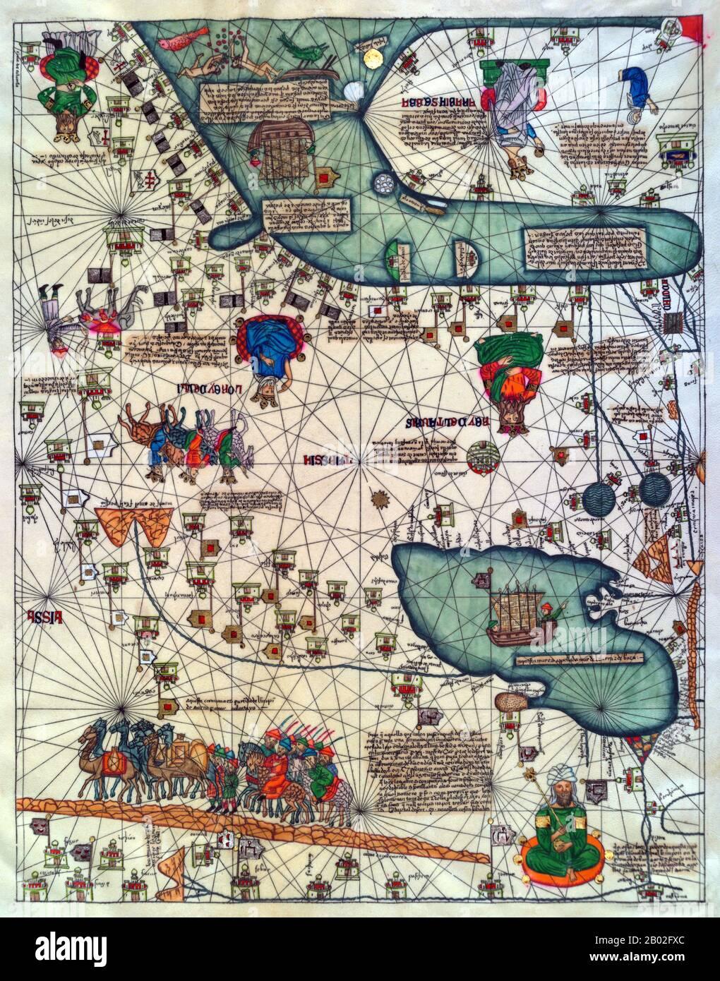 Carte Du Voyage De Marco Polo : carte, voyage, marco, Marco, Resolution, Stock, Photography, Images, Alamy