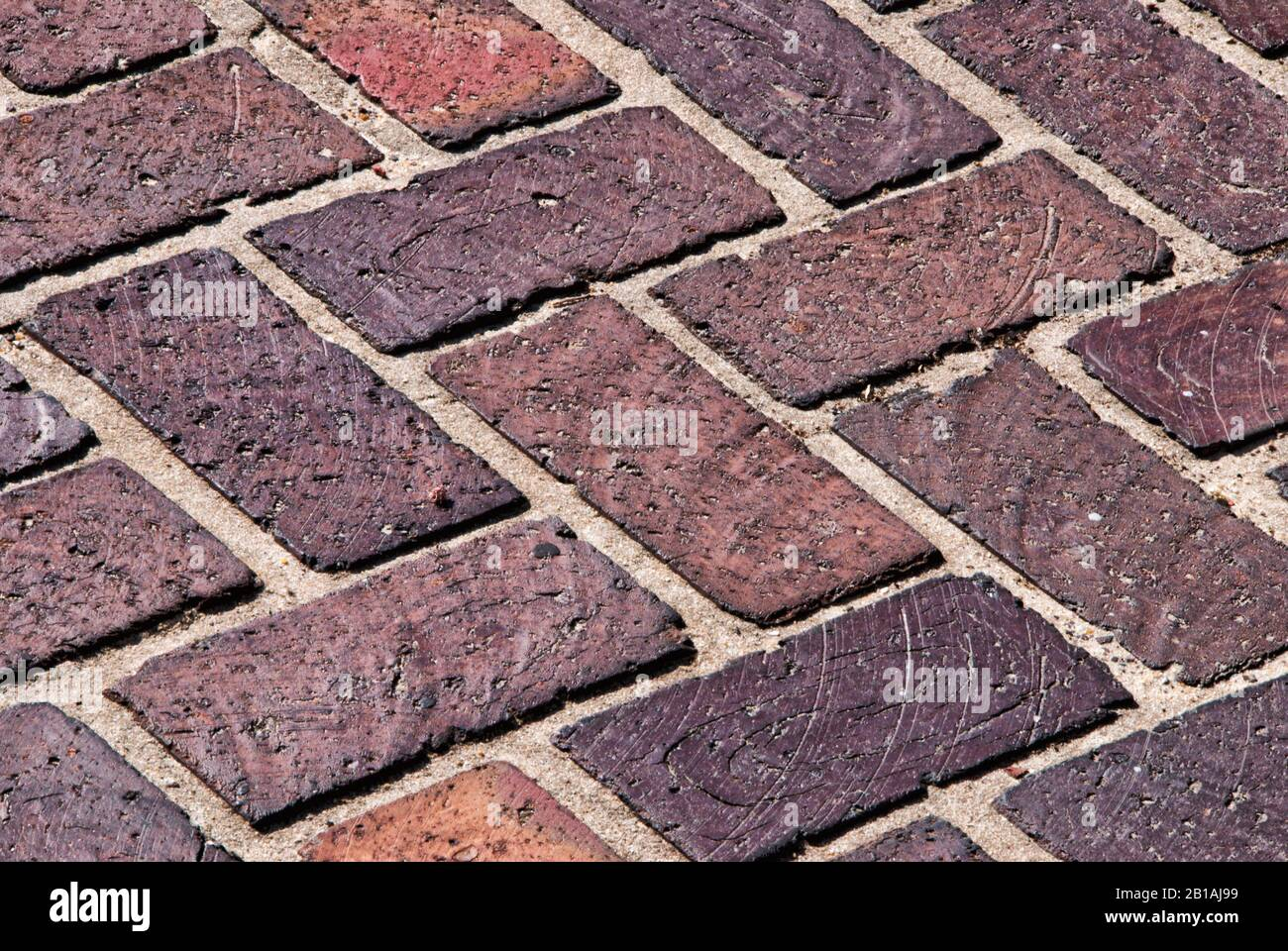 https www alamy com textured background of very old red and brown colored brick pavers on a patio of an historical home image345055909 html