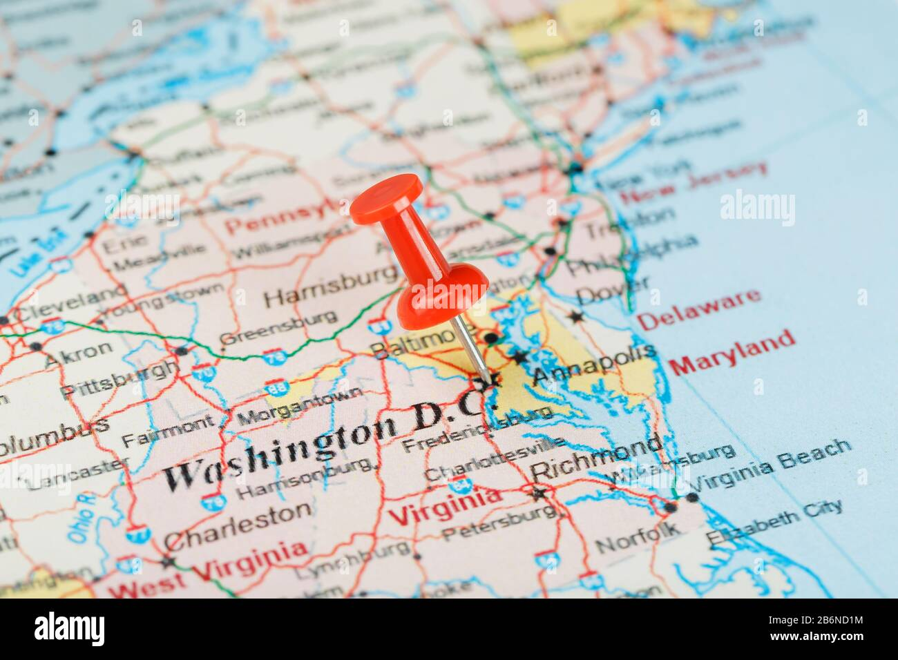 Sometimes called a legend, a map key is a table that explains what the symbols on a map mean. Red Clerical Needle On The Map Of Usa South Washington Dc And The Capital Of Richmond Close Up Map Of Dc With Red Tack Map Of United States Usa Stock Photo