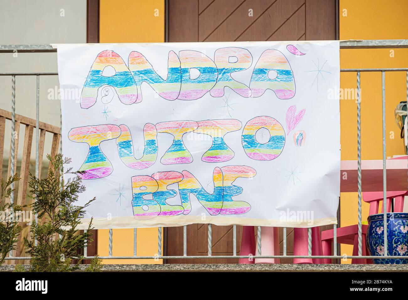Spirano, Italy. 13th Mar, 2020. During the covid-19 ( corona virus ...