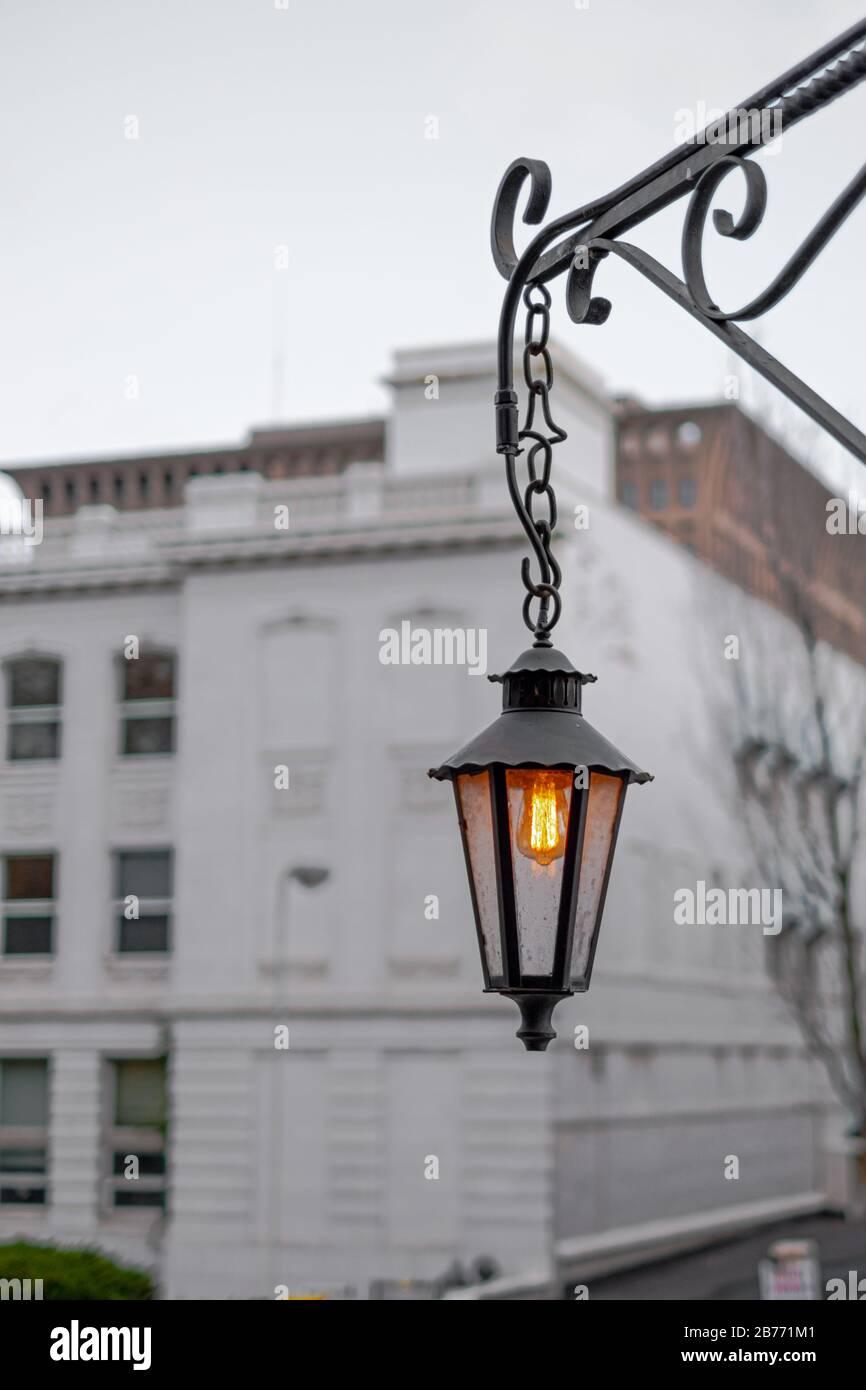 https www alamy com an old post lamp in spokane wa image348664961 html