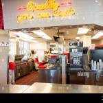 Interior View Of An In N Out Burger Restaurant Stock Photo Alamy
