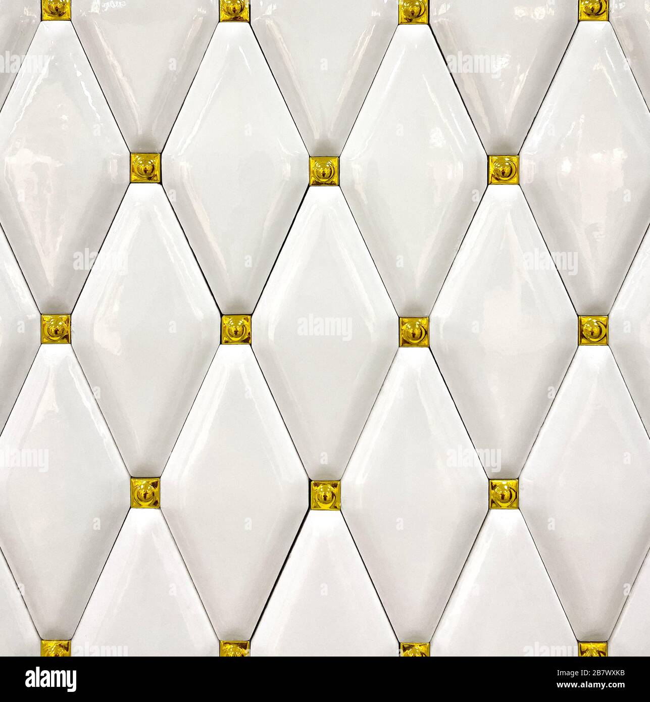 https www alamy com detail texture of white ceramic tiles with gold accents background texture image349079679 html