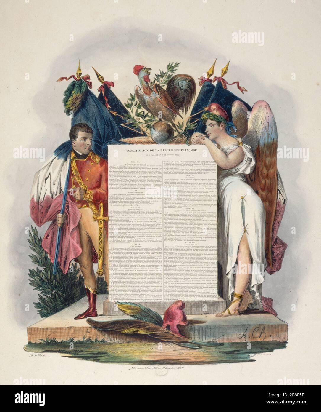 Constitution Du 22 Frimaire An Viii : constitution, frimaire, CONSTITUTION, FRENCH, REPUBLIC, FRIMAIRE,, Villain., Constitution, République, Française, Frimaire,, (Consulat,, Décembre, 1799)
