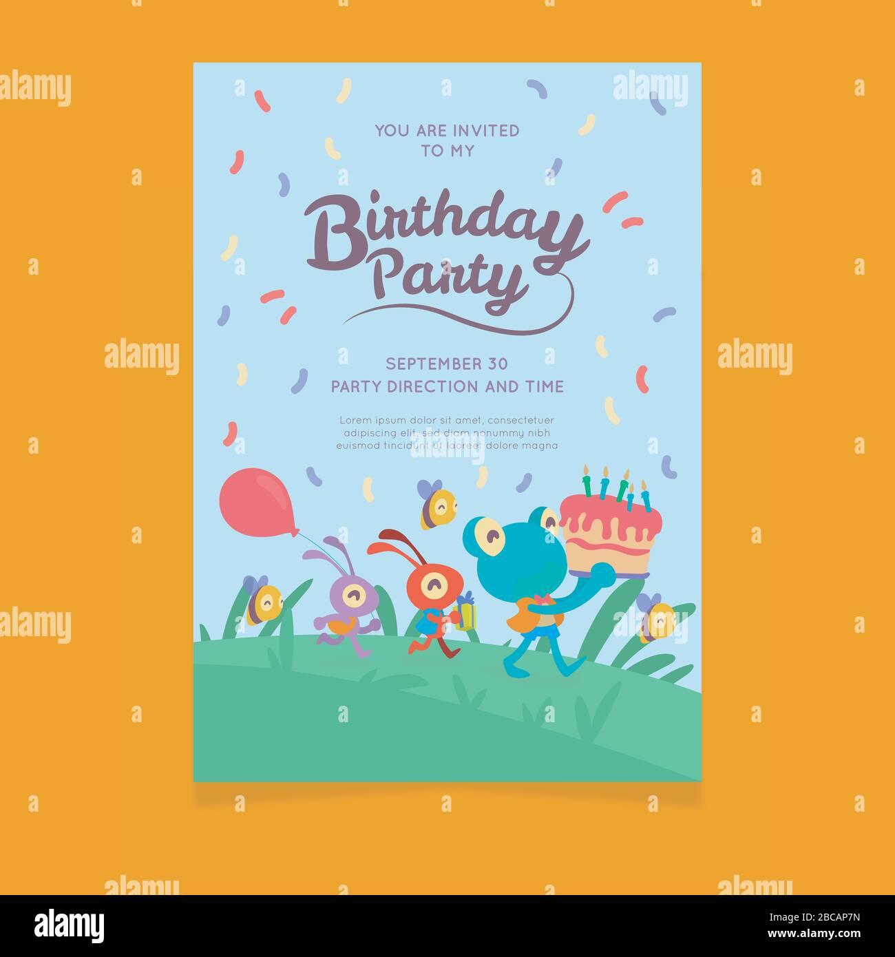 https www alamy com happy birthday invitation card template image351820217 html