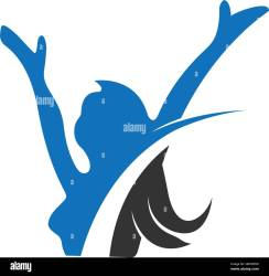 Female Fitness logo icon illustration Stock Vector Image & Art Alamy