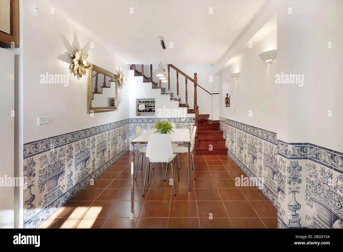 Home Interior Modern Contemporary Furniture Room Access Wooden | Floor Tiles Design For Stairs | Hallway Floor Tile | Stair Landing | House | Stair Riser | Wall