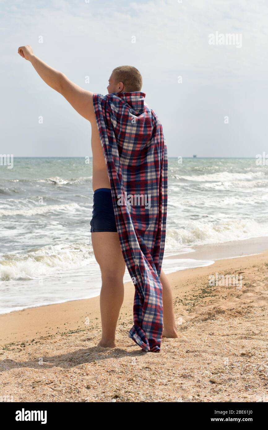 Funny Fat Kid On Beach : funny, beach, Beach, Resolution, Stock, Photography, Images, Alamy