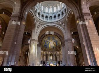 Interior details of the Roman Catholic church and minor basilica Sacre Coeur in Montmartre a large medieval church on a hill in Paris France Stock Photo Alamy