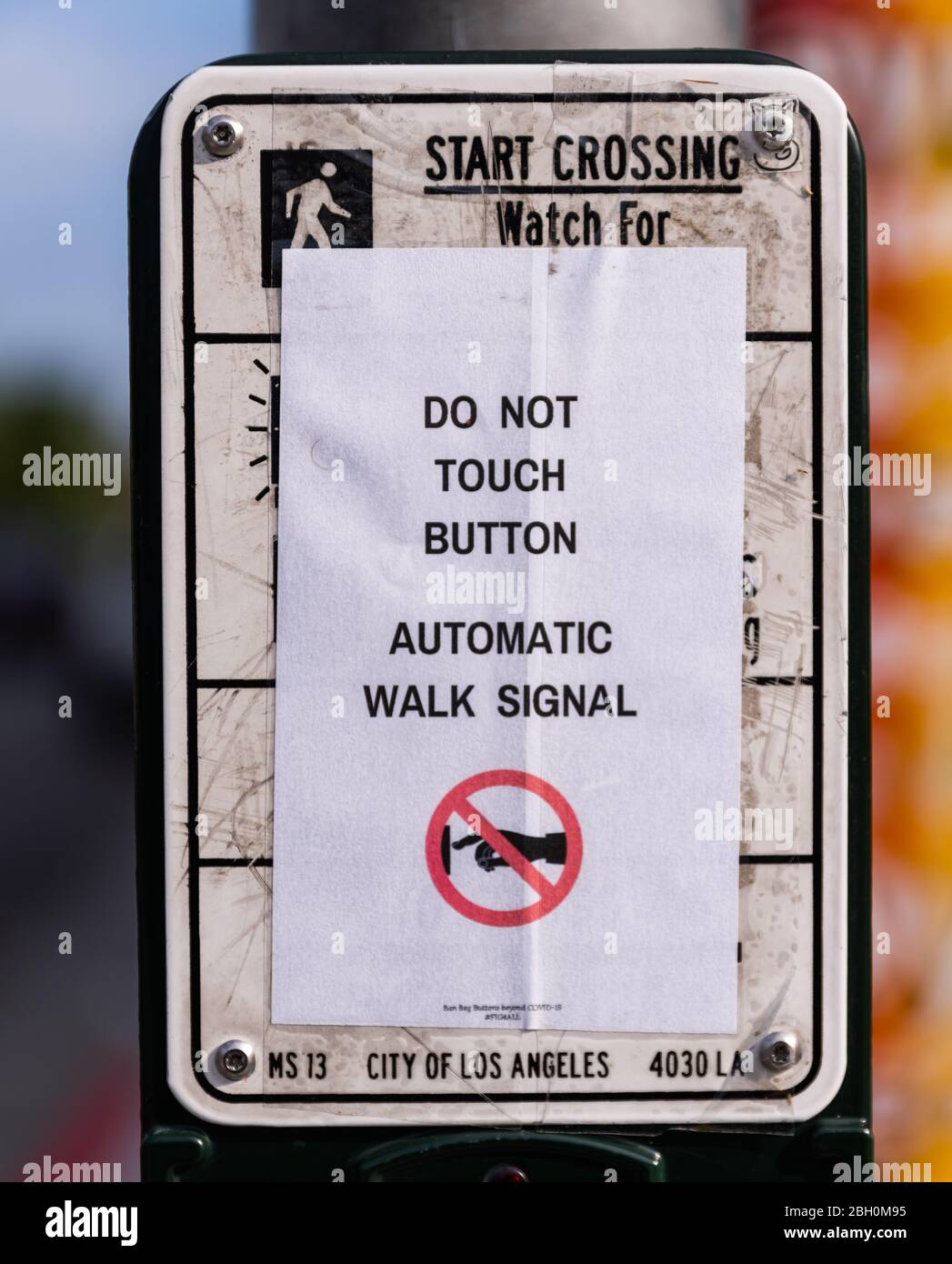 Do Not Touch That Button : touch, button, During, Covid-19, Pandemic, Pedestrian, Crosswalk, Which, Reads:, Touch, Button,, Automatic, Signal, Stock, Photo, Alamy