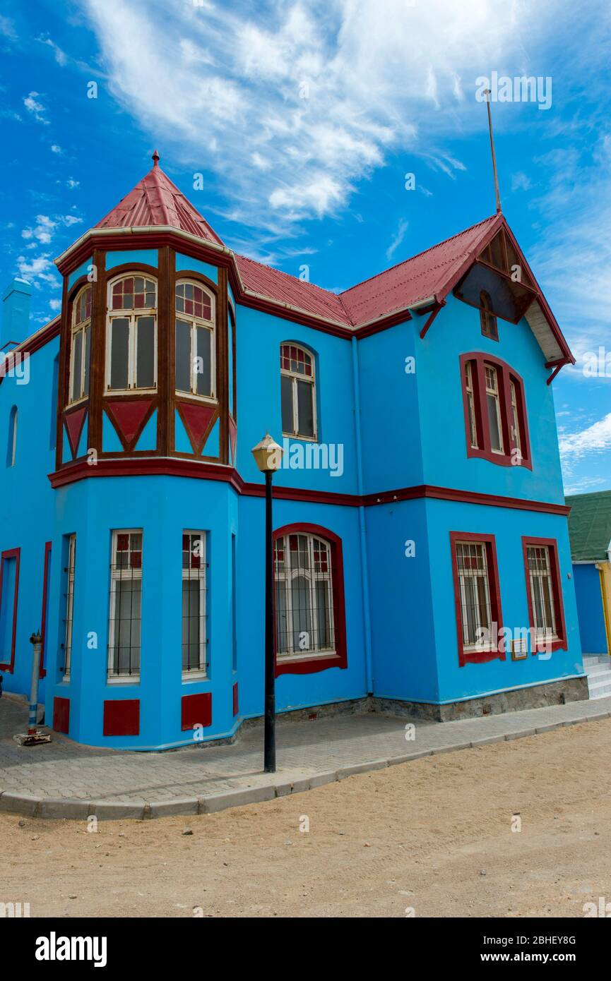 German Colonial House : german, colonial, house, Street, Scene, Luderitz,, Namibia, Colorful, German, Colonial, House, Stock, Photo, Alamy