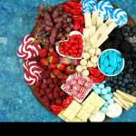 Patriotic Red White And Blue Charcuterie Dessert Grazing Platter With Fruit Chocolate And Candy For Independence And National Holiday Celebrations N Stock Photo Alamy
