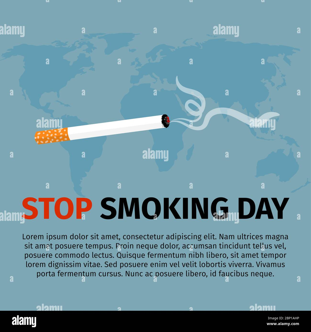 https www alamy com stop smoking day world no tobacco day vector illustration image357760082 html