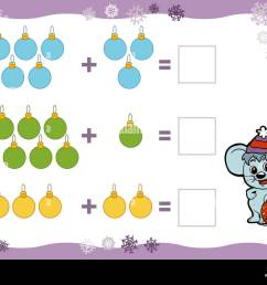 Counting Game for Preschool Children. Addition worksheets. Christmas toys.  Educational a mathematical game. Count the numbers in the picture Stock  Vector Image \u0026 Art - Alamy [ 1009 x 1300 Pixel ]