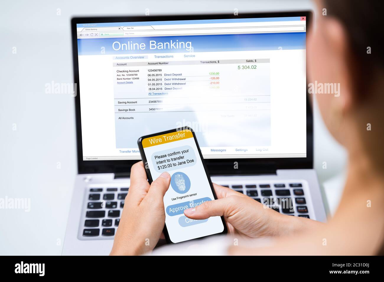 Online Banking Business App On Mobile Phone Stock Photo Alamy