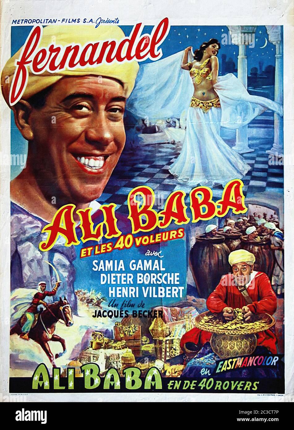 Ali Baba Et Les 40 Voleurs Fernandel : voleurs, fernandel, Quarante, Voleurs, French, Vintage, Movie, Poster, Stock, Photo, Alamy